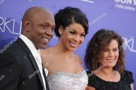 "Phillippi Sparks, Jordin Sparks and Jodi Weidmann Sparks attend the Los Angeles premiere of ""Sparkle"" at Grauman's Chinese Theatre, in Los Angeles"