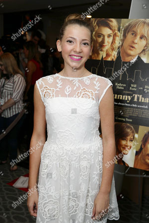 Nicole Kohut seen at Los Angeles Premiere of Lionsgate Premiere â?˜Sheâ?™s Funny That Wayâ?™ at Harmony Gold Theatre, in Los Angeles, CA