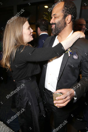 Exclusive - Author Suzanne Collins and Jeffrey Wright seen at Los Angeles Premiere of Lionsgate's 'The Hunger Games: Mockingjay - Part 2', in Los Angeles, CA