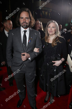 Screenwriter Peter Craig and author Suzanne Collins seen at Los Angeles Premiere of Lionsgate's 'The Hunger Games: Mockingjay - Part 2', in Los Angeles, CA
