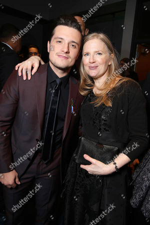 Stock Picture of Exclusive - Josh Hutcherson and author Suzanne Collins seen at Los Angeles Premiere of Lionsgate's 'The Hunger Games: Mockingjay - Part 2', in Los Angeles, CA