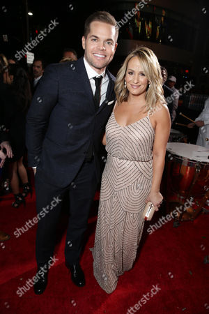 Wes Chatham and Jenn Brown seen at Los Angeles Premiere of Lionsgate's 'The Hunger Games: Mockingjay - Part 2', in Los Angeles, CA