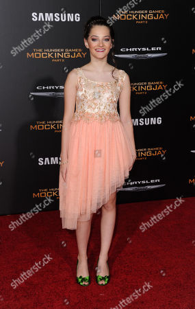 Stock Picture of Erika Bierman seen at Los Angeles Premiere of Lionsgate's 'The Hunger Games: Mockingjay - Part 2', in Los Angeles, CA