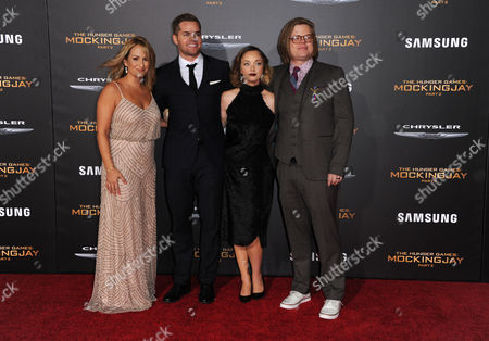 Stock Photo of Wes Chatham, Jenn Brown, Kira Sternbach and Elden Henson seen at Los Angeles Premiere of Lionsgate's 'The Hunger Games: Mockingjay - Part 2', in Los Angeles, CA