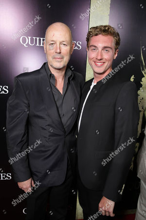 Producer Simon Oakes and Rory Fleck-Byrne seen at the Los Angeles Premiere of Lionsgate's 'The Quiet Ones', in Los Angeles