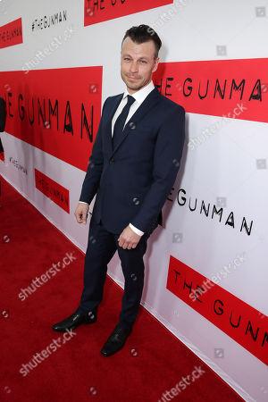 "Peter Franzen seen at the Los Angeles Premiere of Open Road Films' ""The Gunman"" held at Regal Cinemas LA Live, in Los Angeles"