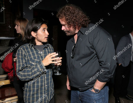 """Jose Julian and Director Sean McNamara attend the afterparty for the Los Angeles Premiere of Pantelion Films' """"Spare Parts"""" at Warwick, in Los Angeles"""