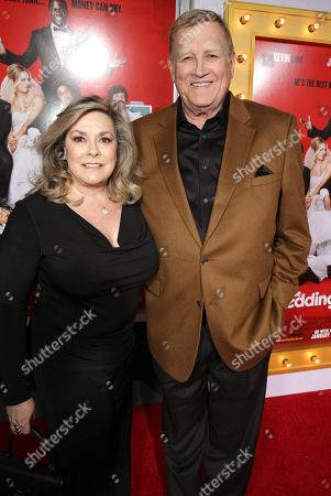 """Stock Picture of Linda Fetters and Ken Howard seen at at the Premiere of Screen Gems' """"The Wedding Ringer"""" sponsored by Mitchum at the TCL Chinese Theater, in Los Angeles"""