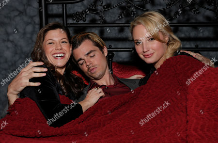 Jamie Renee Smith, Reid Ewing and Molly McCook attend the after party for the premiere of Screen Media Films' '10 Rules For Sleeping Around' at the Egyptian Theatre on in Hollywood, California