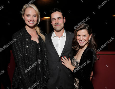 Molly McCook, Jesse Bradford and Jamie Renee Smith attend the after party for the premiere of Screen Media Films' '10 Rules For Sleeping Around' at the Egyptian Theatre on in Hollywood, California