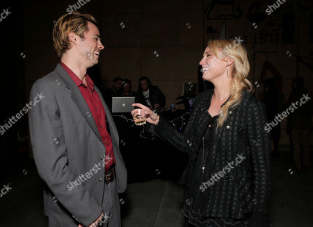 Stock Picture of Reid Ewing and Molly McCook attend the after party for the premiere of Screen Media Films' '10 Rules For Sleeping Around' at the Egyptian Theatre on in Hollywood, California