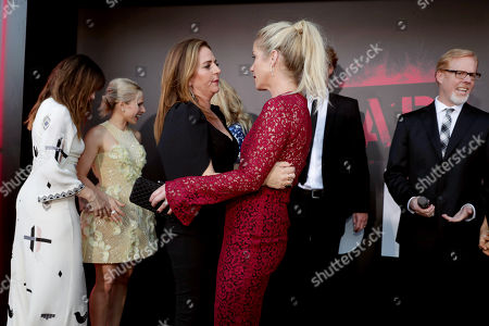 "Annie Mumolo and Christina Applegate seen at Los Angeles Premiere of STX Entertainment ""Bad Moms"" at Mann Village Theatre, in Los Angeles"
