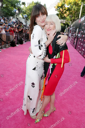 "Stock Image of Kathryn Hahn and Karen Bunker Hahn seen at Los Angeles Premiere of STX Entertainment ""Bad Moms"" at Mann Village Theatre, in Los Angeles"