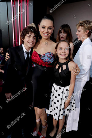 "Emjay Anthony, Mila Kunis and Oona Laurence seen at Los Angeles Premiere of STX Entertainment ""Bad Moms"" at Mann Village Theatre, in Los Angeles"