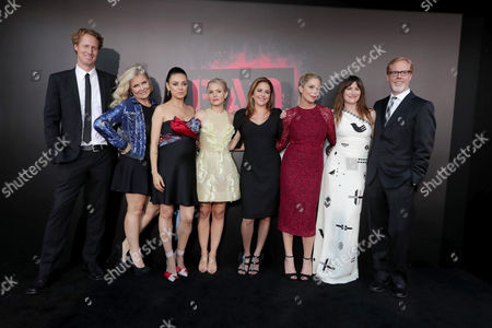 "Director/Writer Jon Lucas, Producer Suzanne Todd, Mila Kunis, Kristen Bell, Annie Mumolo, Christina Applegate, Kathryn Hahn, and Writer/Director Scott Moore seen at Los Angeles Premiere of STX Entertainment ""Bad Moms"" at Mann Village Theatre, in Los Angeles"