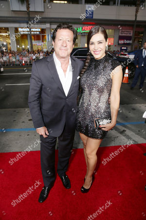 Joaquim de Almeida and Carla Ortiz seen at Los Angeles Premiere of Warner Bros. 'Our Brand is Crisis' at TCL Chinese Theatre, in Los Angeles, CA