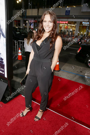 Stock Picture of Agnes Bruckner seen at Los Angeles Premiere of Warner Bros. 'Our Brand is Crisis' at TCL Chinese Theatre, in Los Angeles, CA
