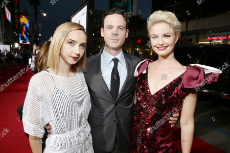 Zoe Kazan, Scoot McNairy and Whitney Able seen at Los Angeles Premiere of Warner Bros. 'Our Brand is Crisis' at TCL Chinese Theatre, in Los Angeles, CA