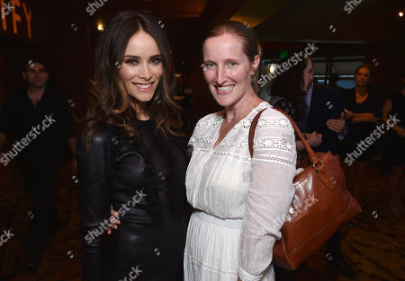 """Abigail Spencer, left, and Melissa Bernstein attend the premiere of SundanceTV's """"Rectify"""" season 2, in Los Angeles"""