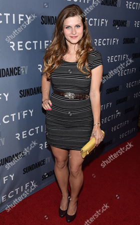 """Meghan Falcone attends the premiere of SundanceTV's """"Rectify"""" season 2, in Los Angeles"""