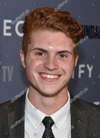 """Jake Austin Walker attends the premiere of SundanceTV's """"Rectify"""" season 2, in Los Angeles"""