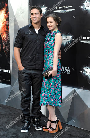 "Stock Photo of Actress Hailee Steinfeld and brother Griffin Steinfeld attend the world premiere of ""The Dark Knight Rises"" at the AMC Lincoln Square Theater on in New York"