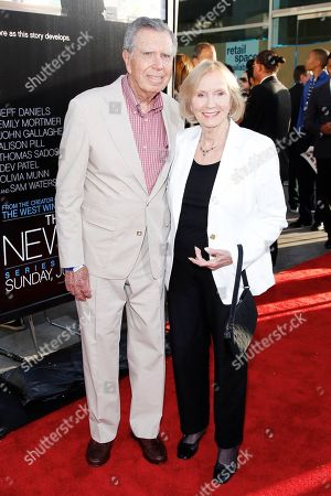 "Jeffrey Hayden and Eva Marie Saint attends the premiere of HBO's series ""The Newsroom"" at The Cinerama Dome on in Los Angeles"