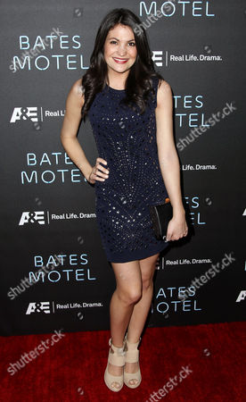 """Cast member Jenna Romanin arrives at the premiere of the A&E television series """"Bates Motel"""", in Los Angeles"""