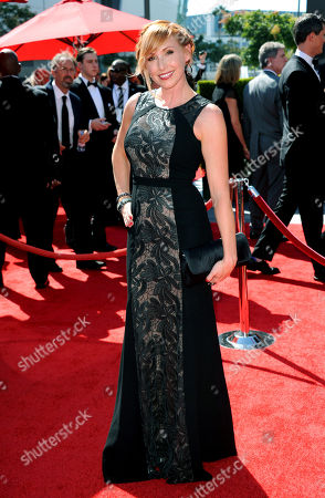 Kari Byron arrives at the Primetime Creative Arts Emmy Awards at the Nokia Theatre L.A. Live, in Los Angeles