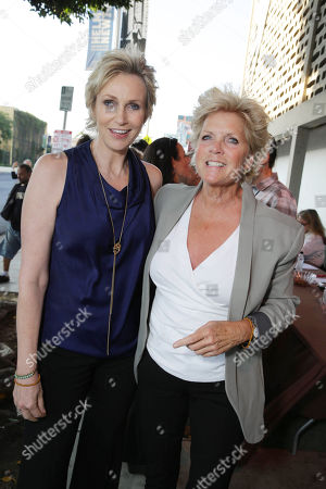 Stock Picture of Honoree Jane Lynch and Meredith Baxter seen at Project Angel Food's Annual Angel Awards Celebration, on Saturday, August, 10, 2013 in Los Angeles