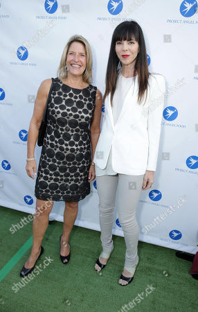 CEO of Project Angel Food Laurie Lang and Mila Hermanovski seen at Project Angel Food's Annual Angel Awards Celebration, on Saturday, August, 10, 2013 in Los Angeles