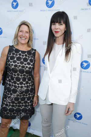 Stock Photo of CEO of Project Angel Food Laurie Lang and Mila Hermanovski seen at Project Angel Food's Annual Angel Awards Celebration, on Saturday, August, 10, 2013 in Los Angeles