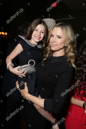 """Makenzie Moss and Mira Sorvino seen at Pure Flix Entertainment premiere of """"Do You Believe?"""" at Arclight Hollywood, in Los Angeles, CA"""