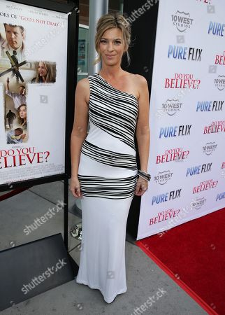 """Stock Photo of Tracy Melchior seen at Pure Flix Entertainment premiere of """"Do You Believe?"""" at Arclight Hollywood, in Los Angeles, CA"""