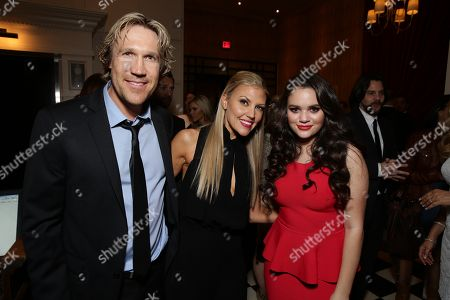 """Stock Picture of Pure Flix Entertainment's David A.R. White, Andrea Logan White and Madison Pettis seen at Pure Flix Entertainment premiere of """"Do You Believe?"""" at Arclight Hollywood, in Los Angeles, CA"""