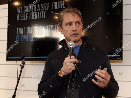 Fabien Cousteau, grandson of famed explorer Jacques Cousteau, gave a talk at Quaker Good Energy Lodge with GenArt and the Collective during Sundance 2014 on Friday, January, 17, 2014 in Park City, Ut