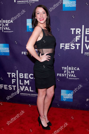 "Stock Picture of Bailey Anne Borders attends the premiere of ""Raze"" during the 2013 Tribeca Film Festival on in New York"