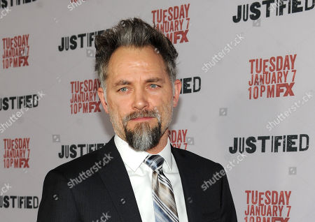 """David Meunier is seen at the Red Carpet Premiere Screening of FX's """"Justified,"""" on at the Directors Guild of America in Los Angeles, Calif"""