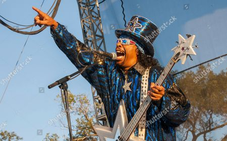 Stock Picture of Bootsy Collins performs with the Bootsy Collins' Rubber Band at Riot Fest & Carnival in Douglas Park on in Chicago