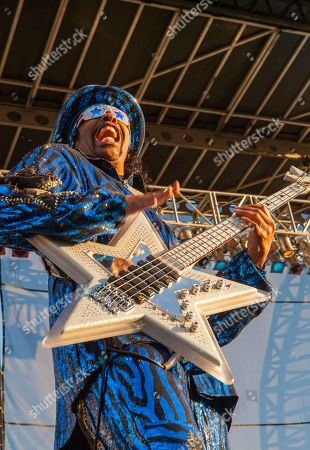 Bootsy Collins performs with the Bootsy Collins' Rubber Band at Riot Fest & Carnival in Douglas Park on in Chicago
