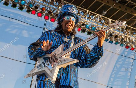Stock Image of Bootsy Collins performs with the Bootsy Collins' Rubber Band at Riot Fest & Carnival in Douglas Park on in Chicago