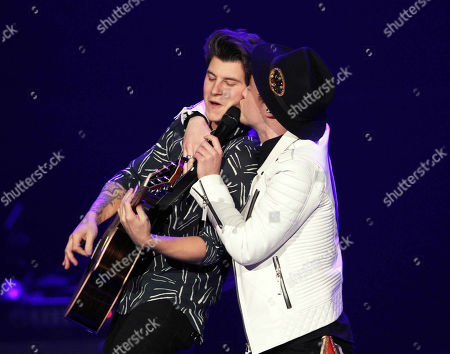 Jake Roche and Charley Bagnall with Rixton performs at the Philips Arena, in Atlanta
