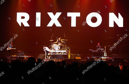 Jake Roche, Charley Bagnall, Danny Wilkin and Lewi Morgan with Rixton performs at the Philips Arena, in Atlanta