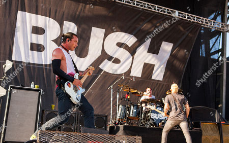 Gavin Rossdale, Robin Goodridge and Corey Britz of Bush perform at Rock on the Range on in Columbus, Ohio