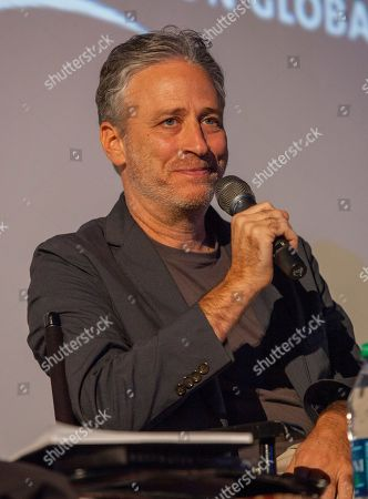 Director and writer of Rosewater, Jon Stewart during the Q&A for the film Rosewater - based on the true story of journalist Maziar Bahari, on in Chicago
