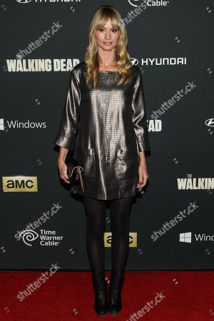 "Actress Cameron Richardson arrives at the season 4 premiere of ""The Walking Dead"" at the AMC Universal Citywalk Stadium 19/IMAX on in Universal City, Calif"
