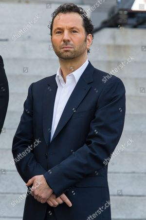 Stock Photo of Michael Rapino, President and CEO of Live Nation Entertainment, during the announcement of the Made in America Festival from the steps of City Hall on in Los Angeles