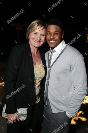PREMIUM RATES APPLY Denise Crosby and Pooch Hall seen at Showtime's Holiday Soiree, on in Los Angeles
