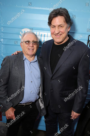 """Irving Azoff and Exec. Producer Cameron Crowe are seen at Showtime's """"Roadies"""" Premiere at The Theatre at ACE Hotel, in Los Angeles"""