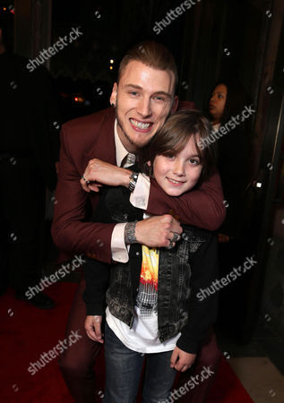 """Machine Gun Kelly and Ethan Michael Mora are seen at Showtime's """"Roadies"""" Premiere at ACE Hotel, in Los Angeles"""